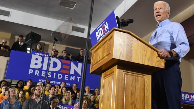 Joe Biden attacks Trump in 2020 kickoff pitch to blue-collar