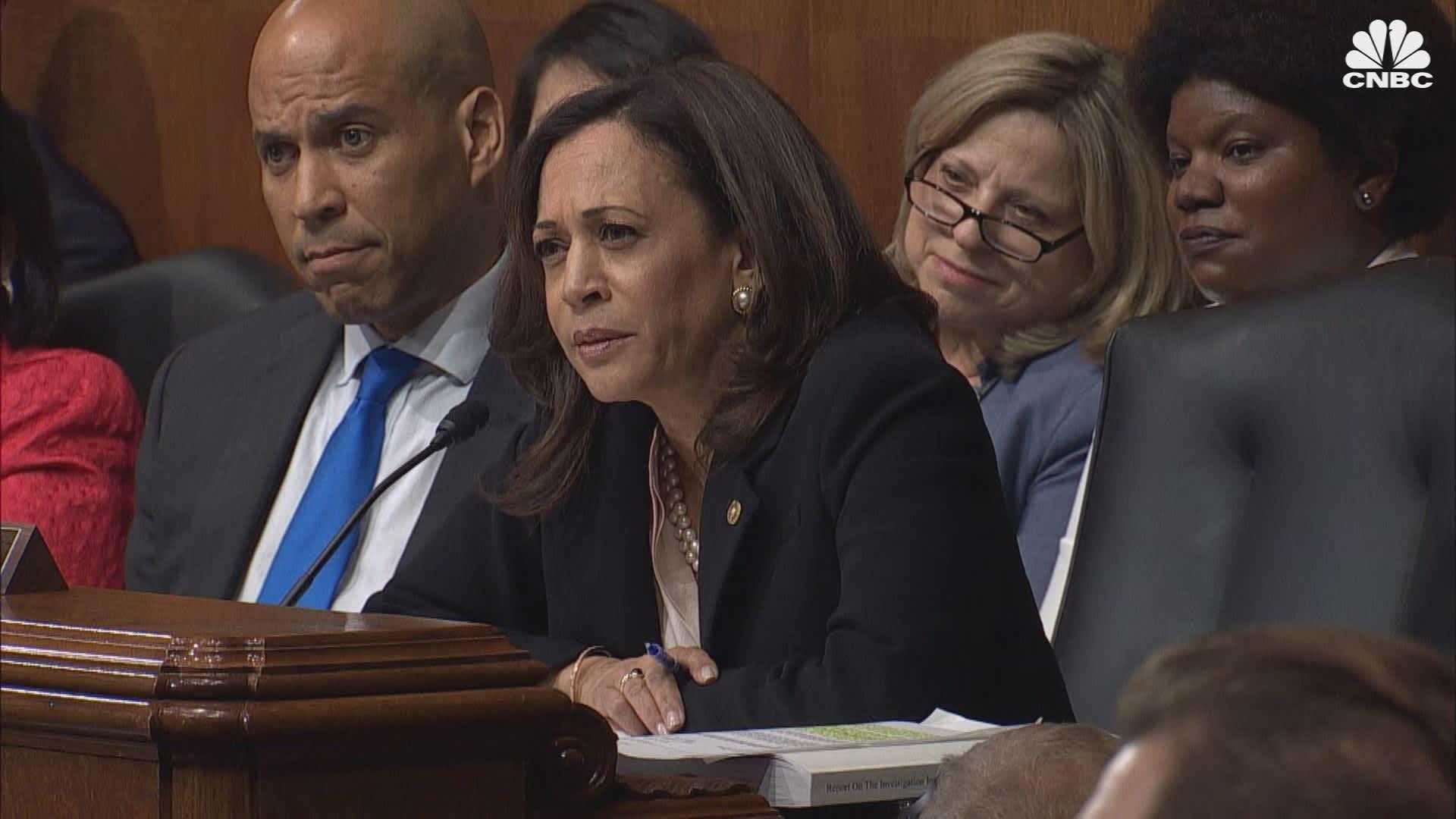 Kamala Harris Grills Ag Barr During Senate Hearing