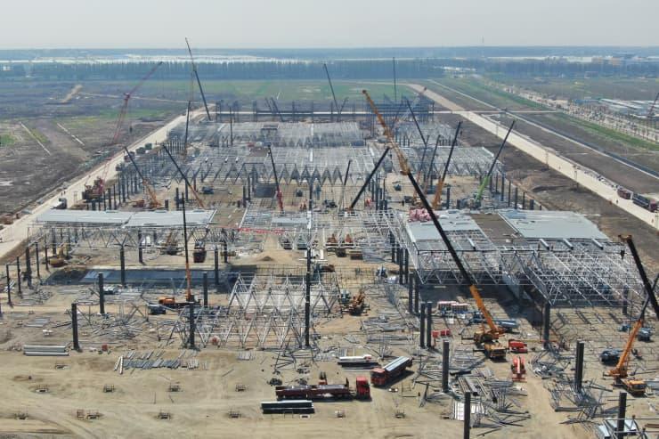 GETTY: Tesla Shanghai construction