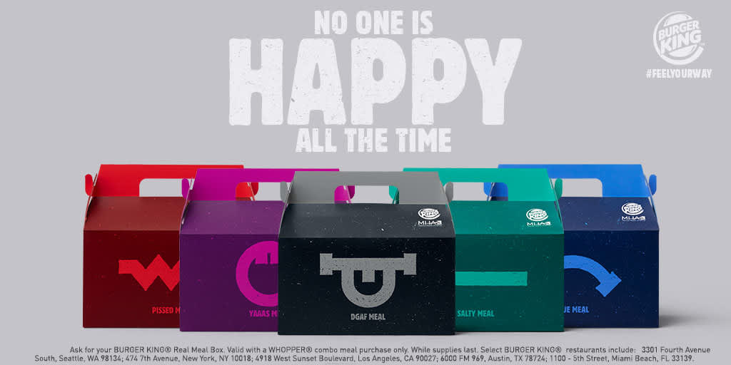 Burger King takes on McDonald's with a range of 'unhappy' meals