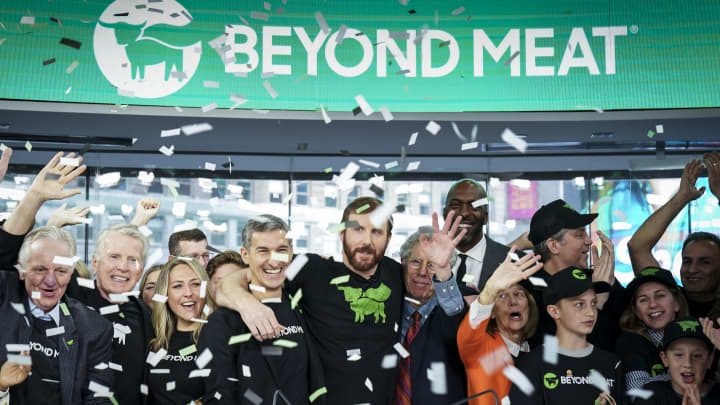 Stocks making the biggest moves midday: Beyond Meat, Tesla, Eventbrite & more