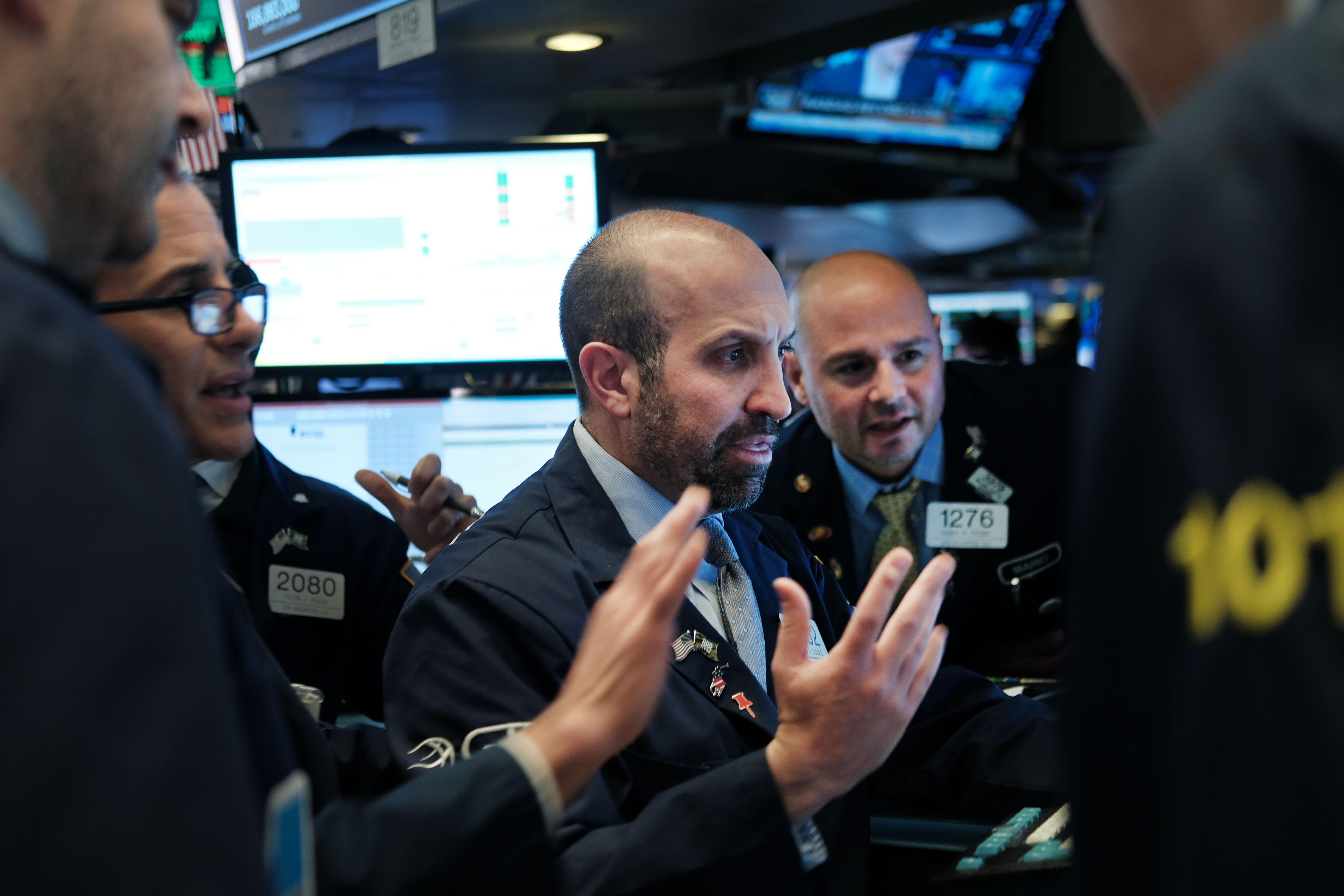 Traders work on the floor of the New York Stock Exchange (NYSE) on May 03, 2019 in New York City.