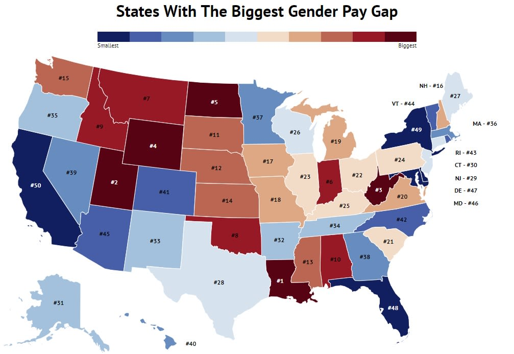 ONE TIME USE HANDOUT: states pay gap