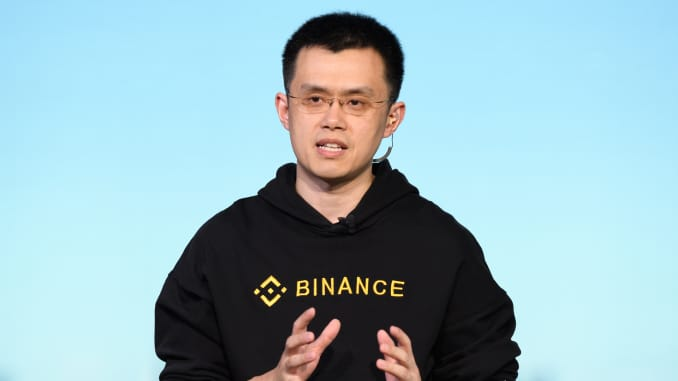 Changpeng Zhao, CEO of Binance, speaks during a TV interview in Tokyo, Japan, on Thursday, Jan. 11, 2018.