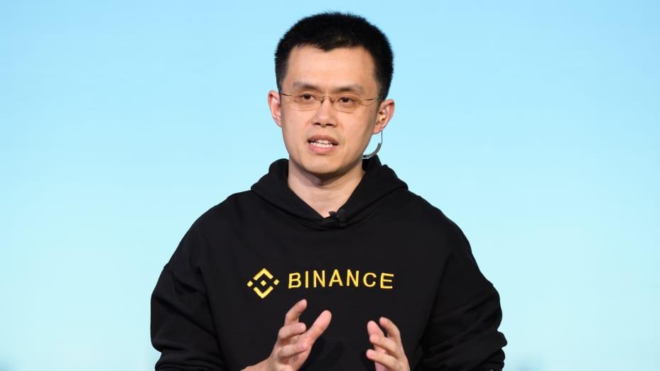 Changpeng Zhao, CEO Binance, berbicara selama wawancara TV di Tokyo, Jepang, pada Kamis, 11 Januari 2018