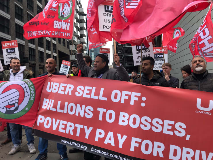 ONE USE ONLY: Uber strike London