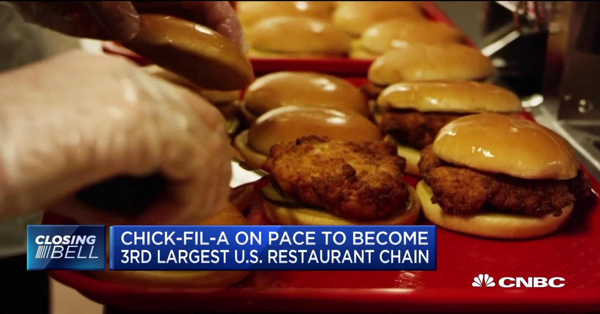 Chick-fil-A on pace to become third-largest US restaurant chain