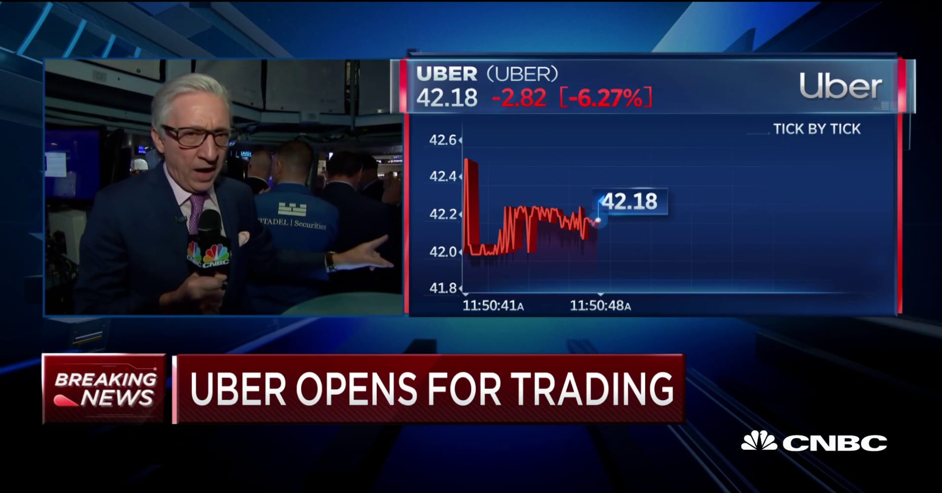Uber IPO: Stock starts trading on the New York Stock Exchange