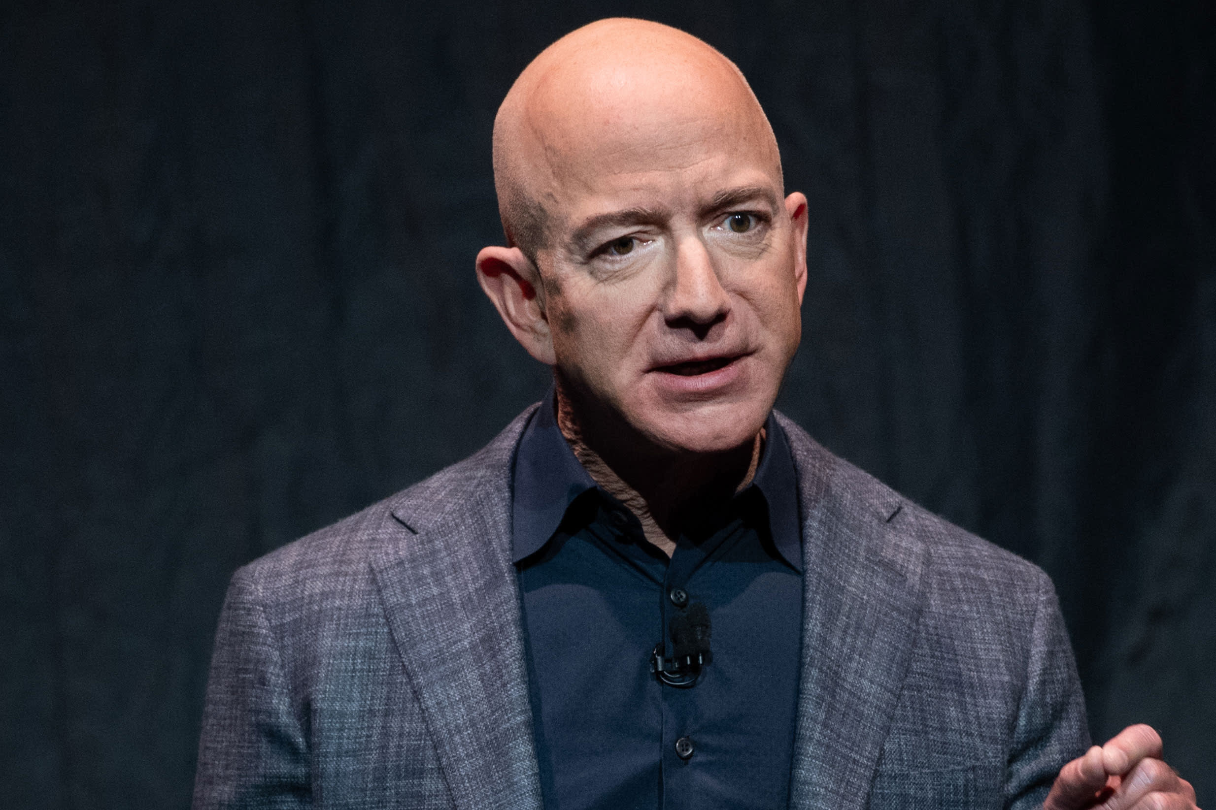 Jeff Bezos interrupted by protester, says space exploration is necessary to 'save the Earth'