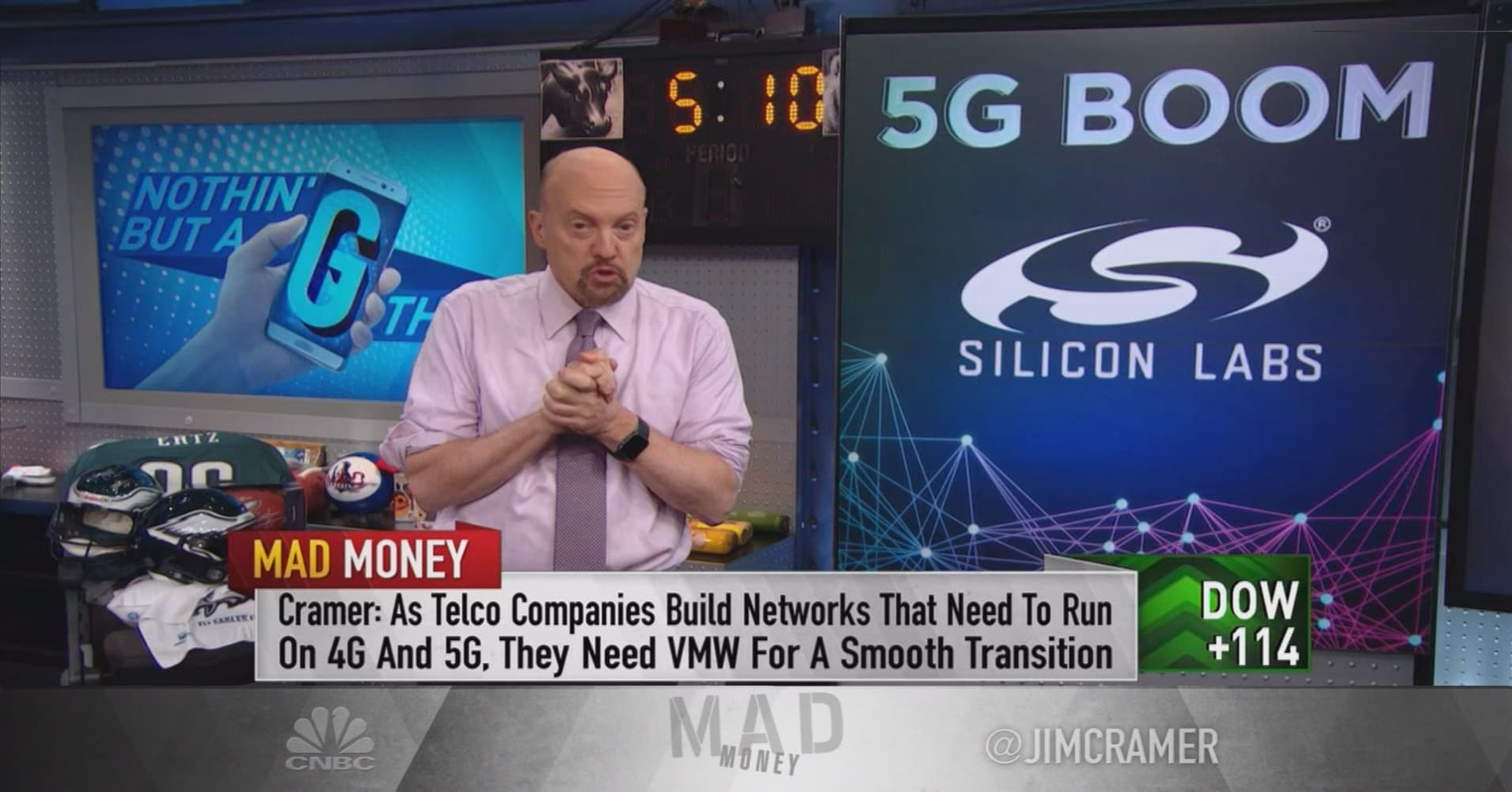 Cramer adds new 5G stock picks to his long-term play