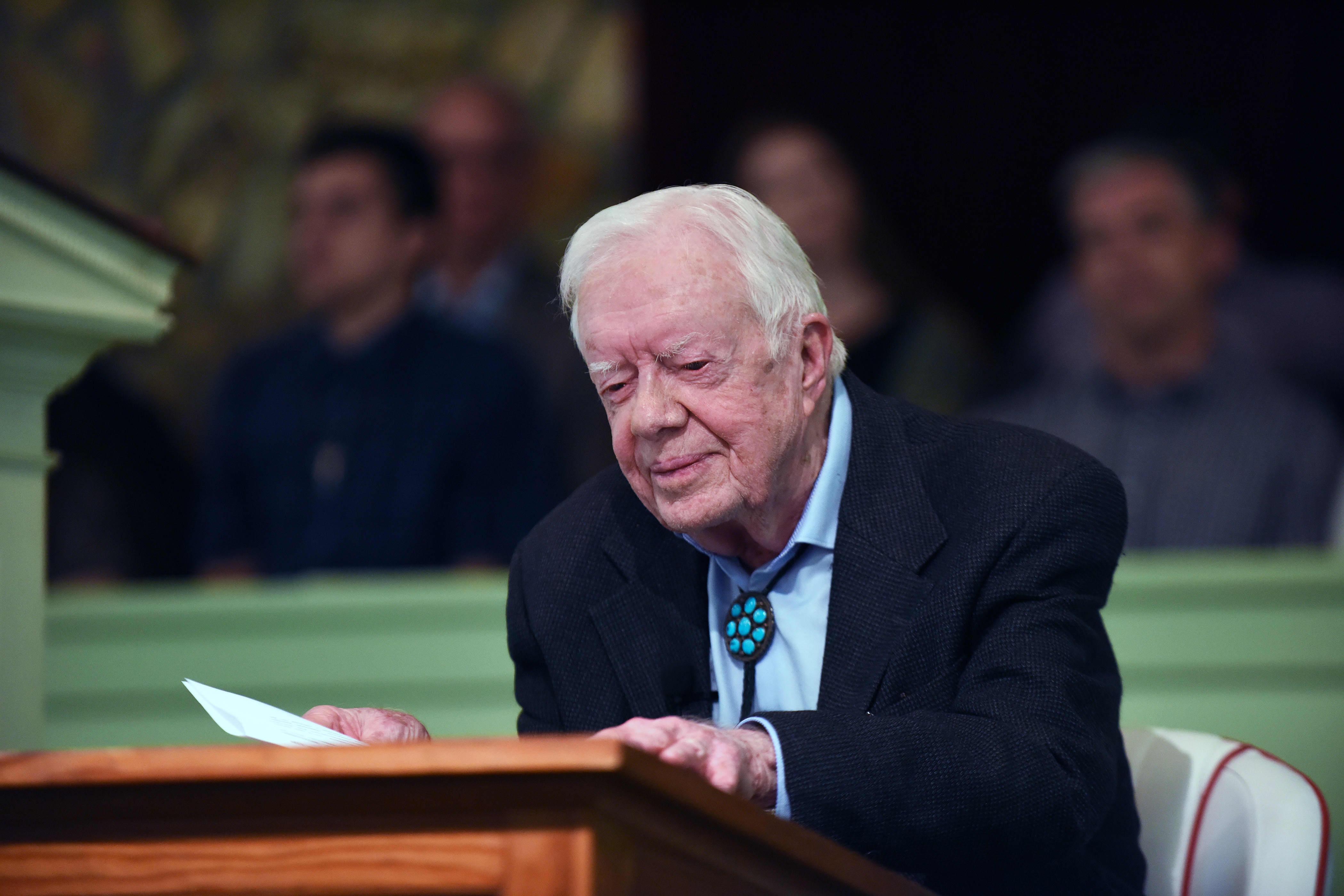 GP: Jimmy Carter Teaches Sunday School in Plains, Georgia 190428