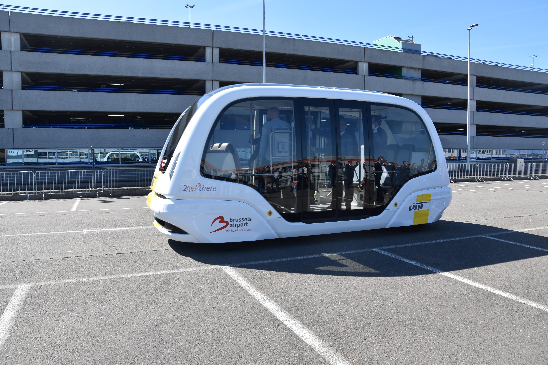 H/O: Brussels airport shuttle bus autonomous