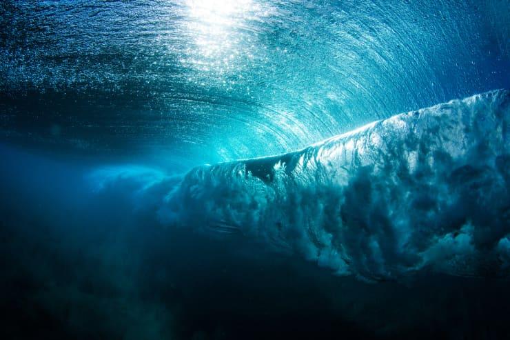 GP: Underwater view of a wave breaking, Hawaii, America, USA