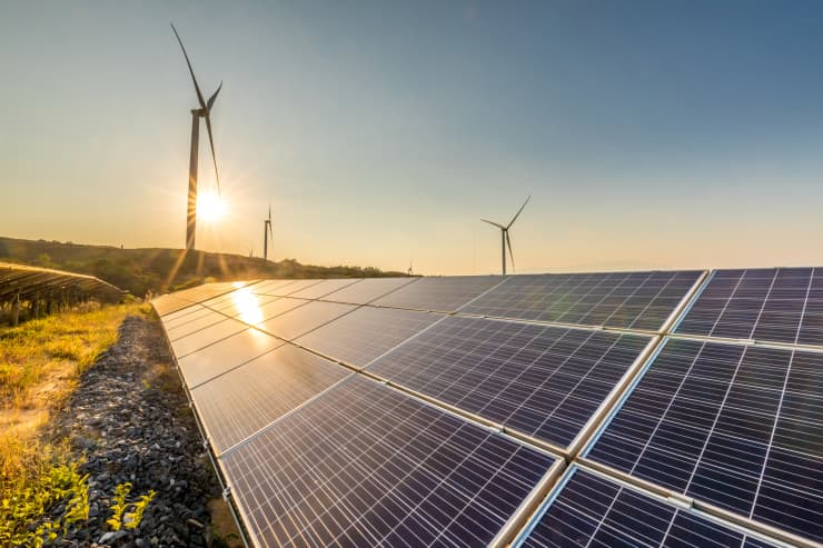 GP: Solar energy and wind power stations