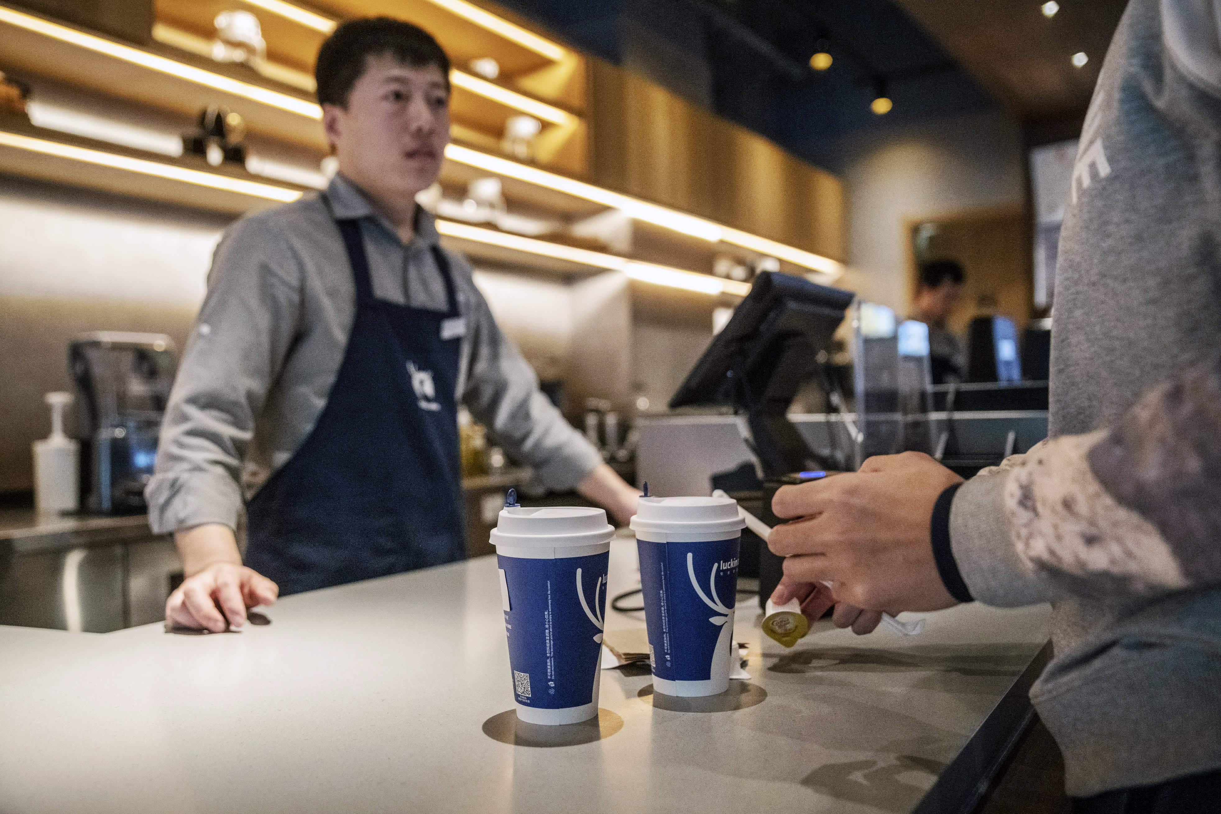 Here are all the ways we're different from Starbucks, says CFO of China's Luckin Coffee on IPO day