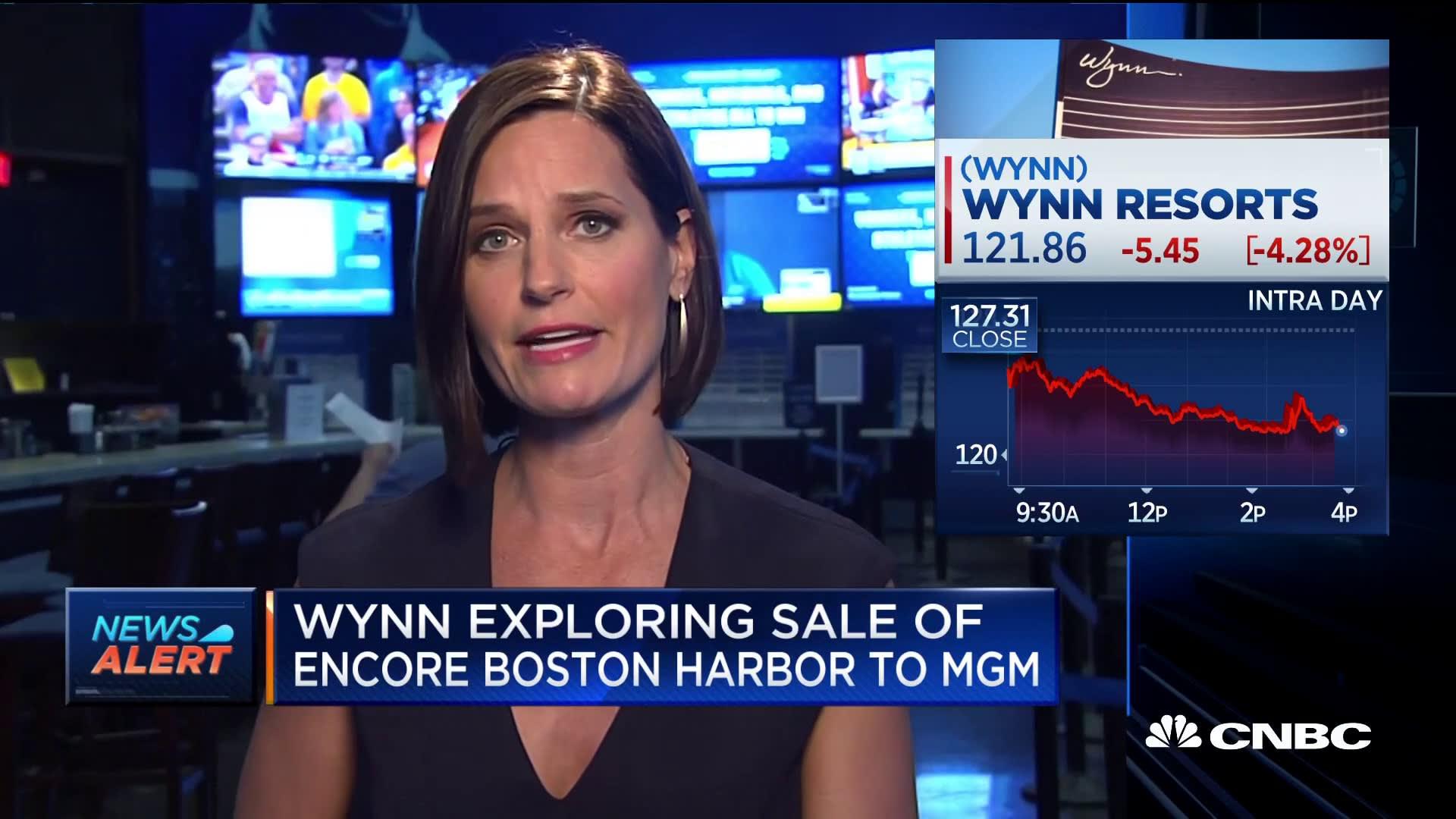 Wynn exploring sale of Encore Boston Harbor to MGM