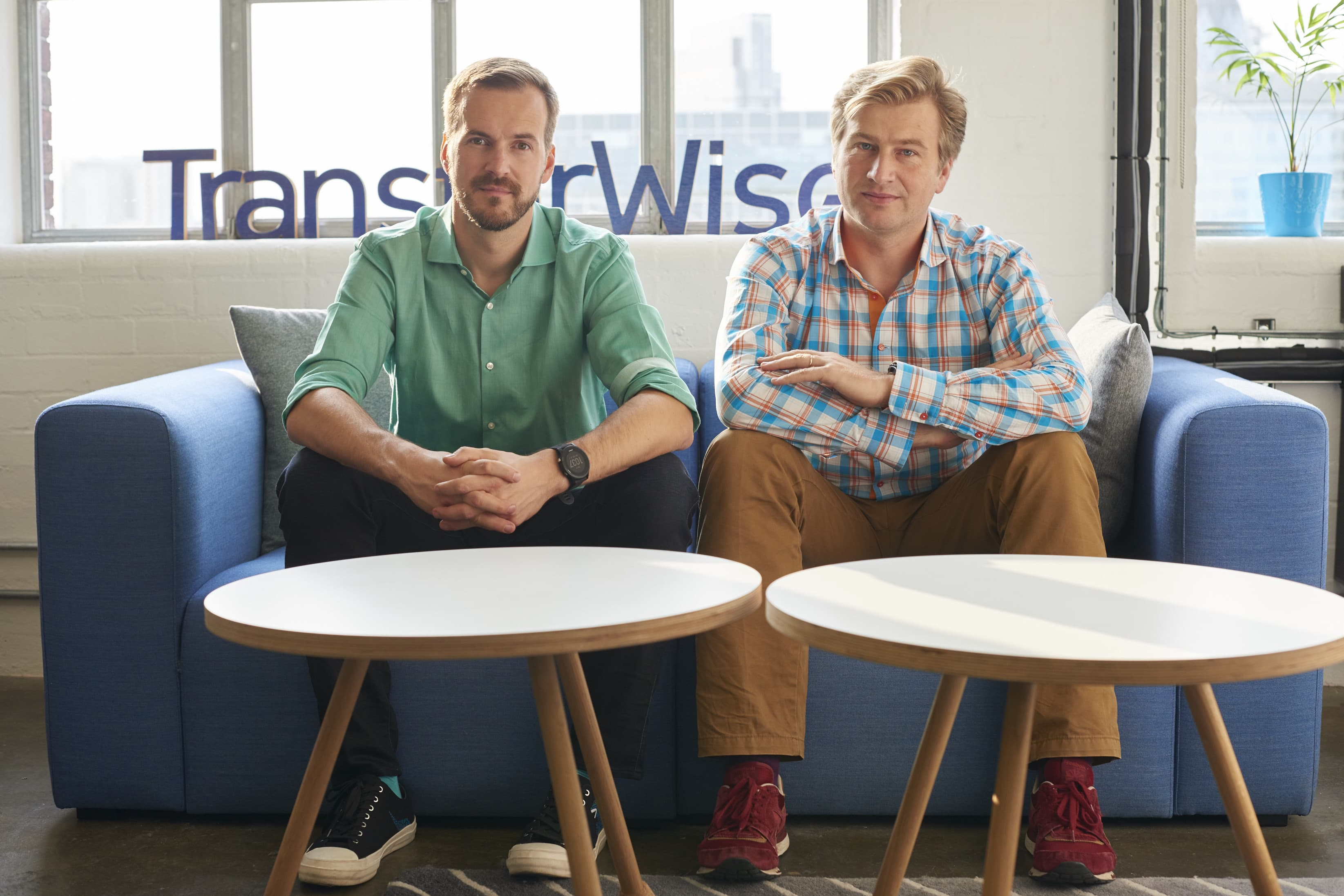 TransferWise co-founders Taavet Hinrikus and Kristo Kaarmann.