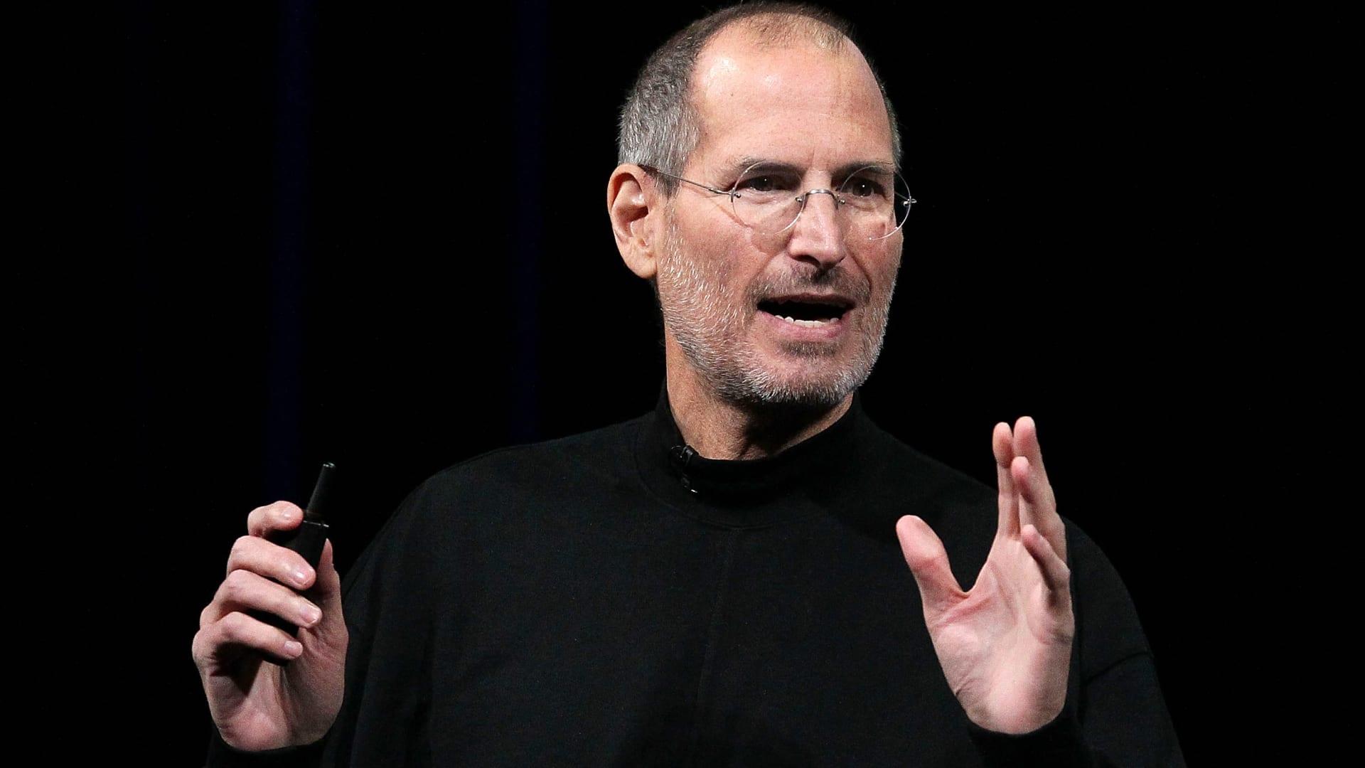 Apple Inc.'s former CEO, the late Steve Jobs, announces the new iPad on January 27, 2010 in San Francisco, California.
