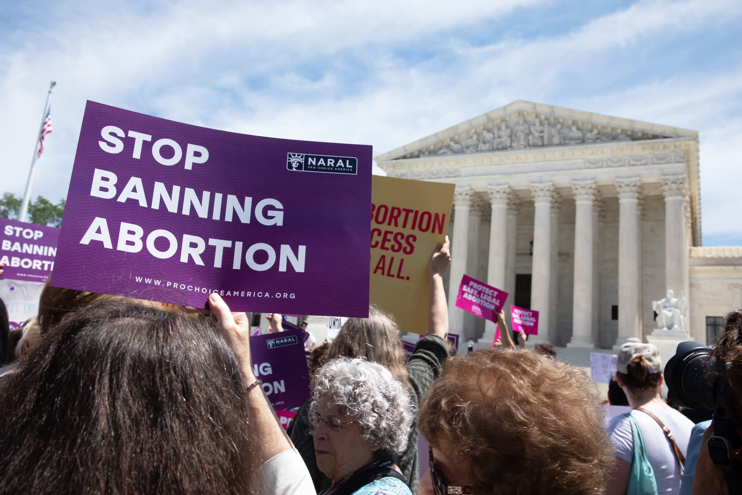 Abortionrights activist gathered outside the U.S. Supreme Court to protest against the recent abortion laws passed across the country in recent weeks. Tuesday, May 21, 2019. Washington, D.C.