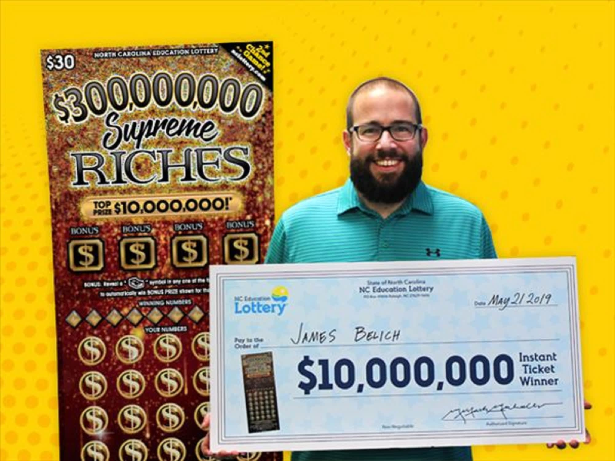 SC dad bought a lottery ticket on his lunch break, won $10 million
