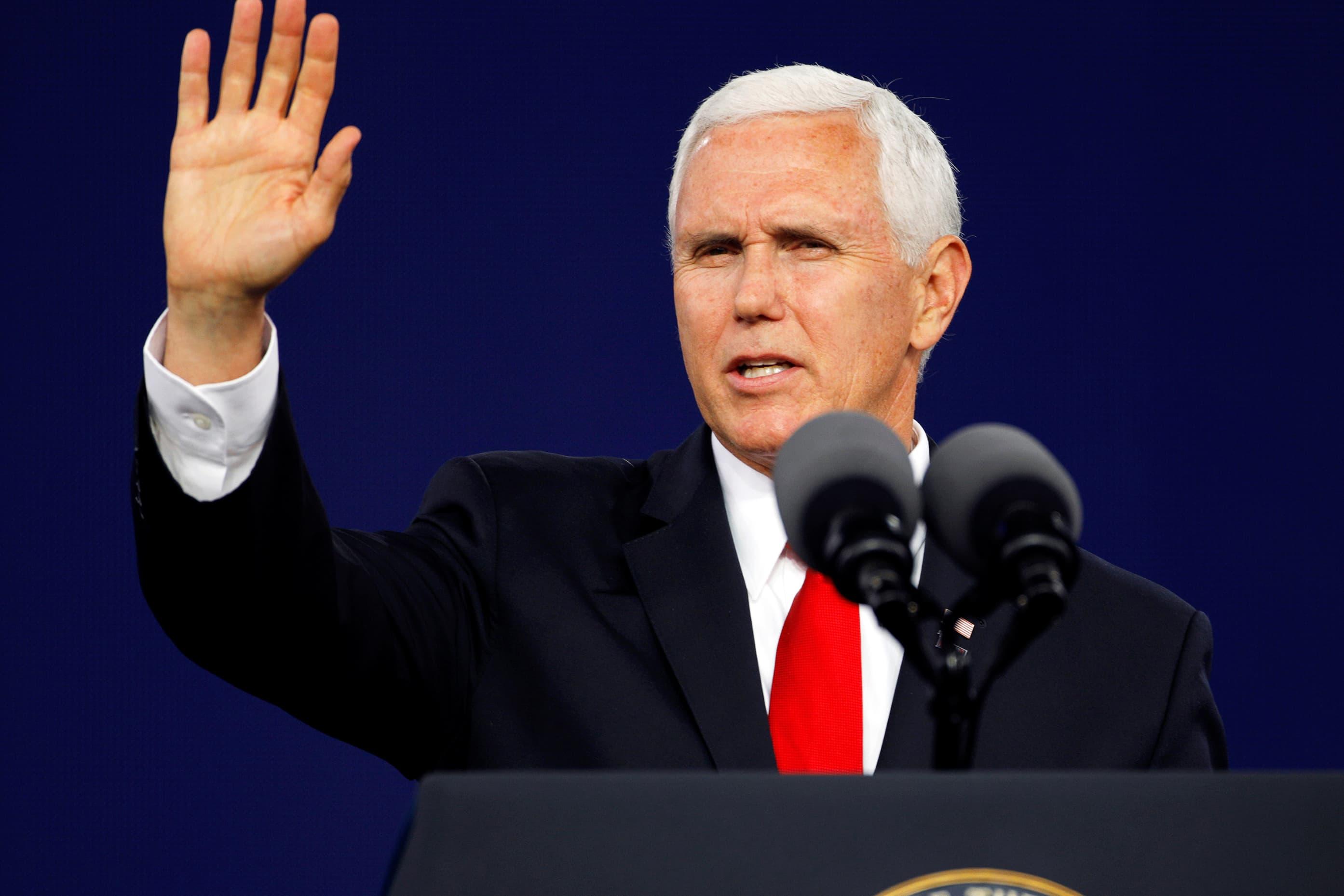 Pence puts off China speech ahead of Trump-Xi talks