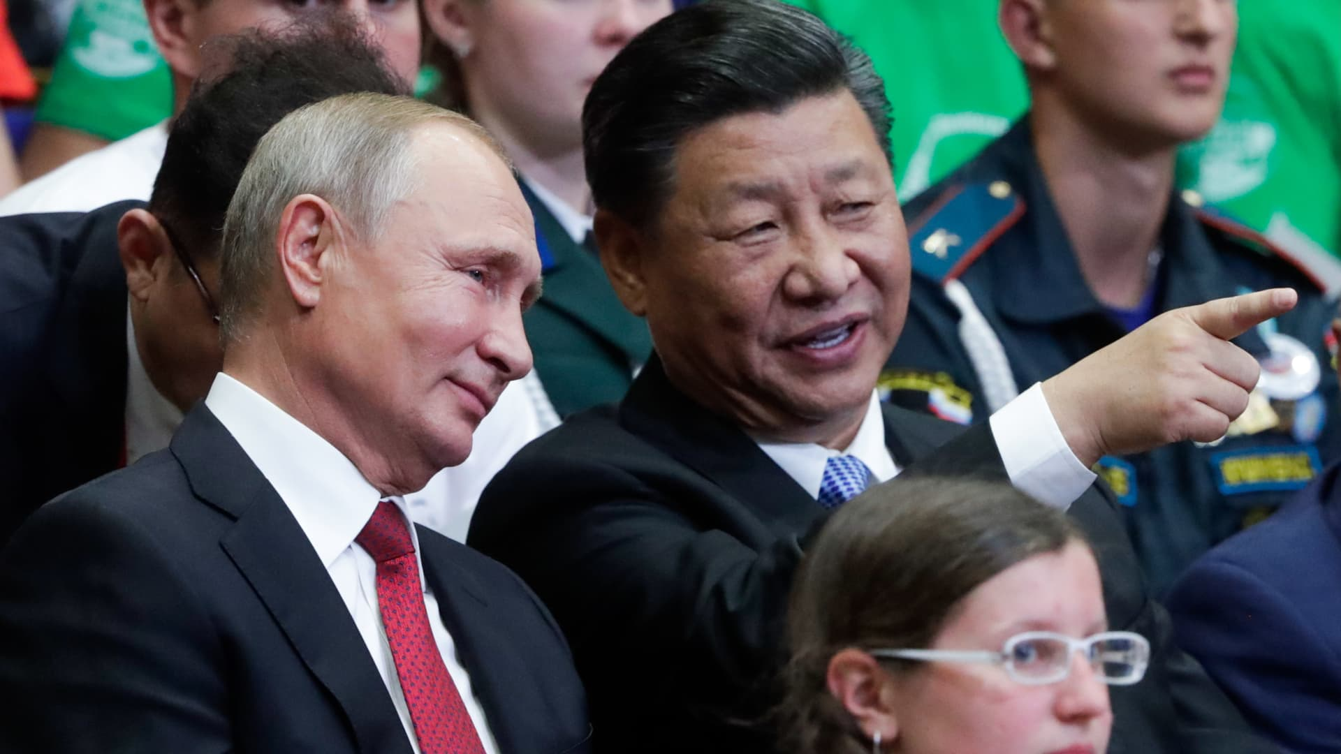 Russia's President Vladimir Putin and China's President Xi Jinping.