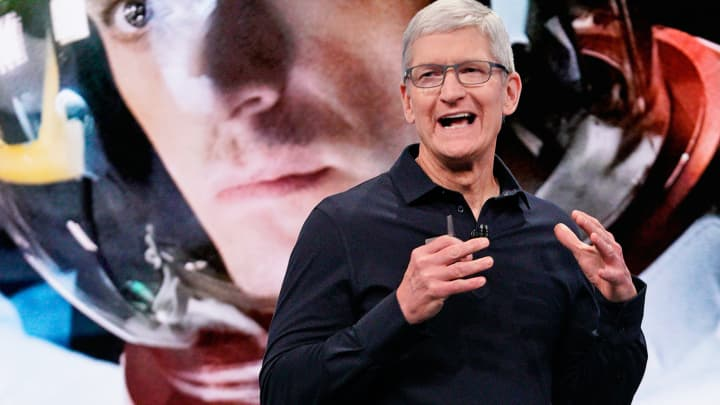 Tim Cook says China has not targeted Apple despite an escalation in trade tensions