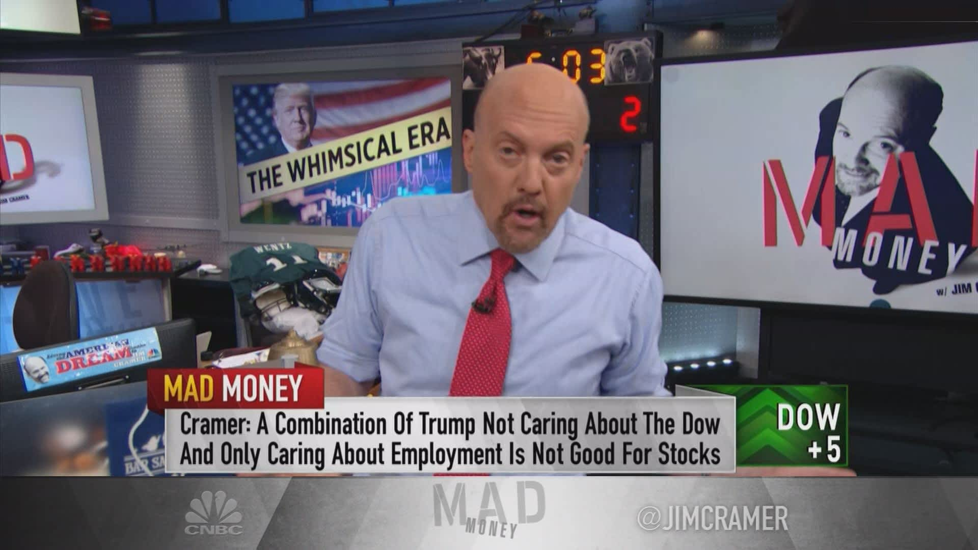 Cramer: Stock investors could be in trouble if Trump keeps 'business-bashing' like Obama