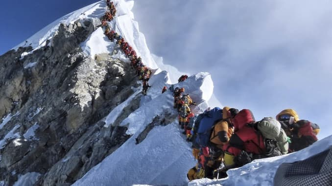 AP: Climbers on Mount Everest 190522
