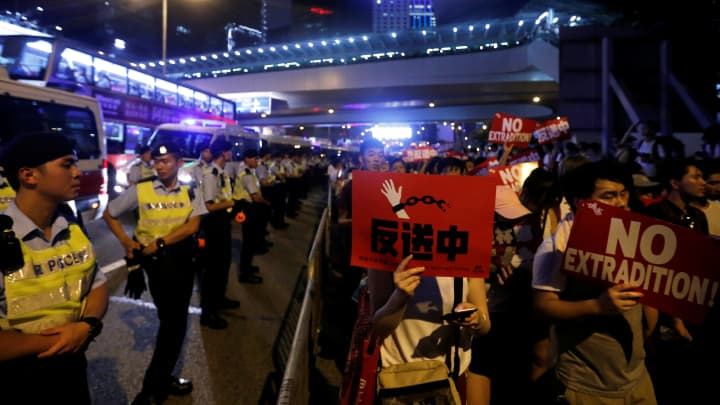 'We have the voice': More than 200,000 Hong Kong protesters blast China extradition plan