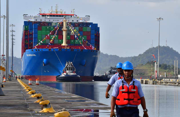 GP: Panama Canal Chinese cargo ship 181203