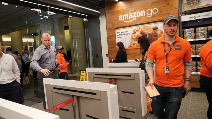 GS: Amazon Go store New York 190507