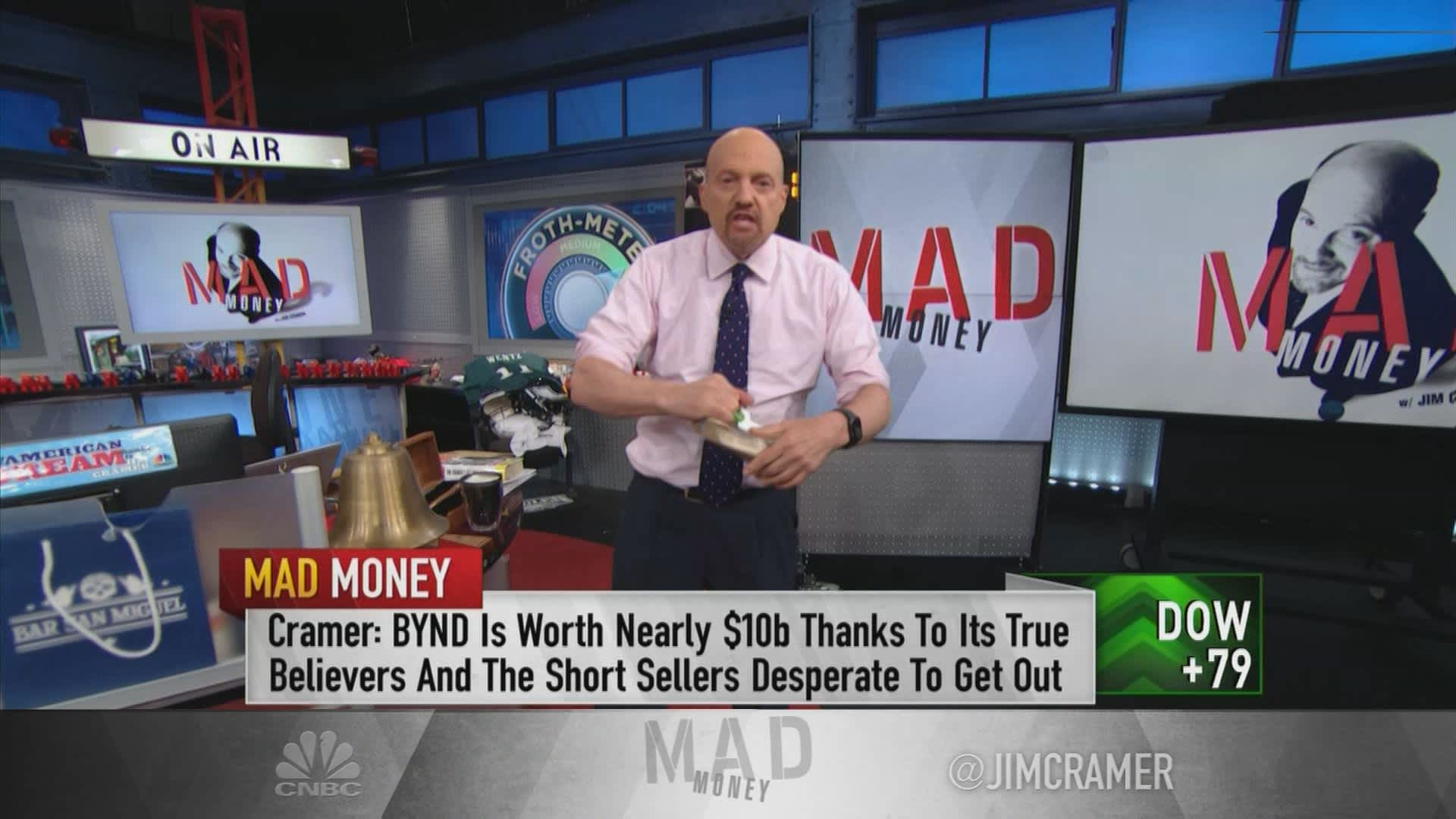 Cramer: Beware of froth — 'it may be too late to put new money to work'