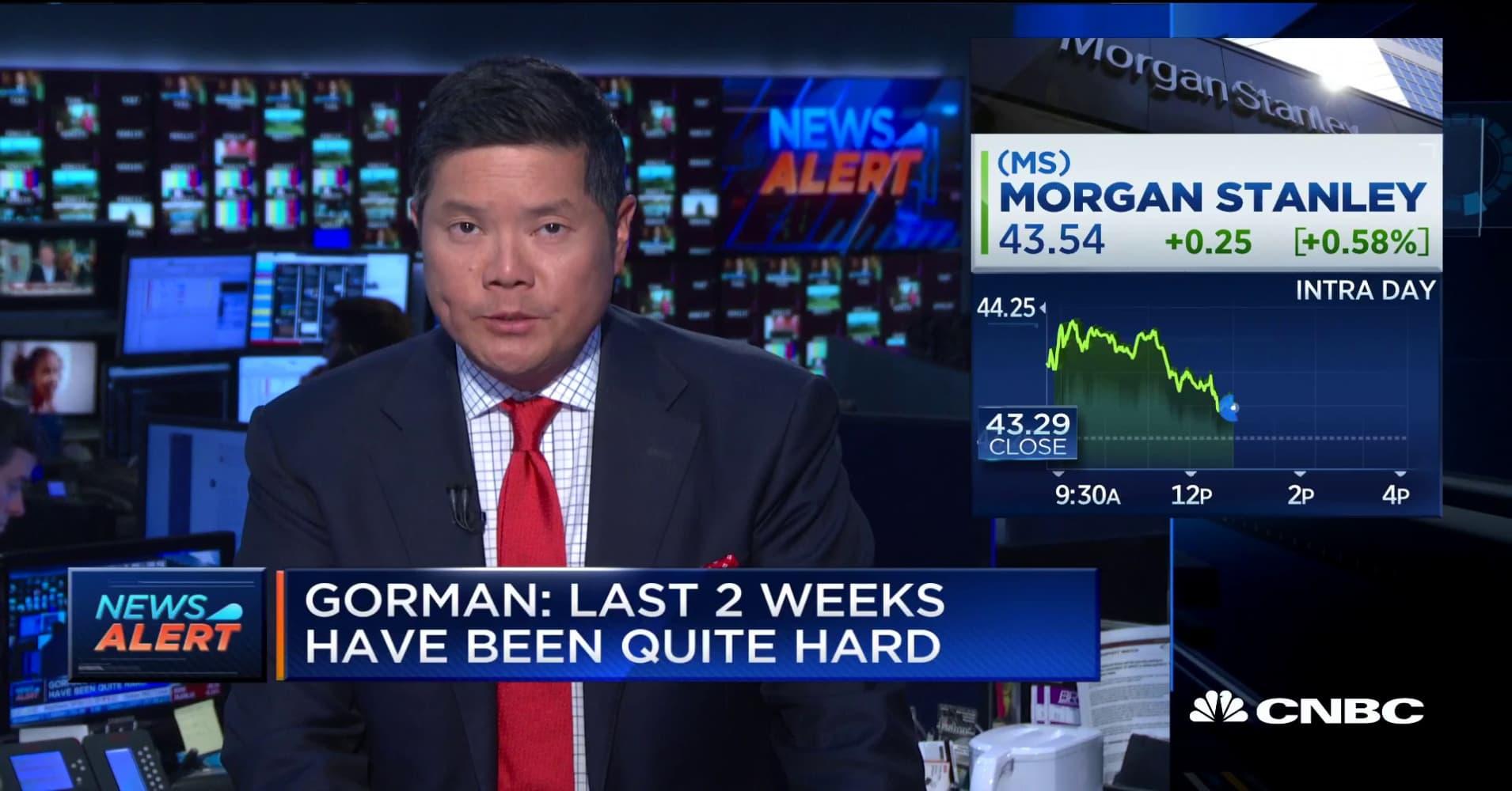 Morgan Stanley CEO: A recession could happen if trade war continues