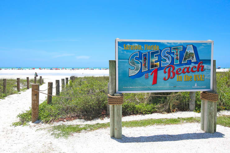 GP: Siesta Key Beach Sarasota, Florida Number 1 Beach in USA Sign
