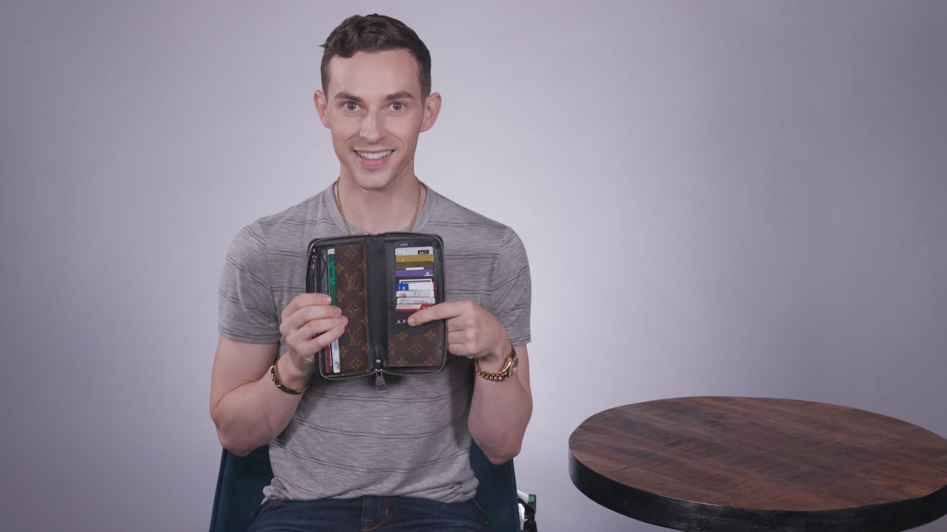 A look inside Olympic medalist Adam Rippon's designer wallet