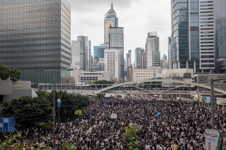 Hong Kong protests: Two people in serious condition with legislature on lockdown