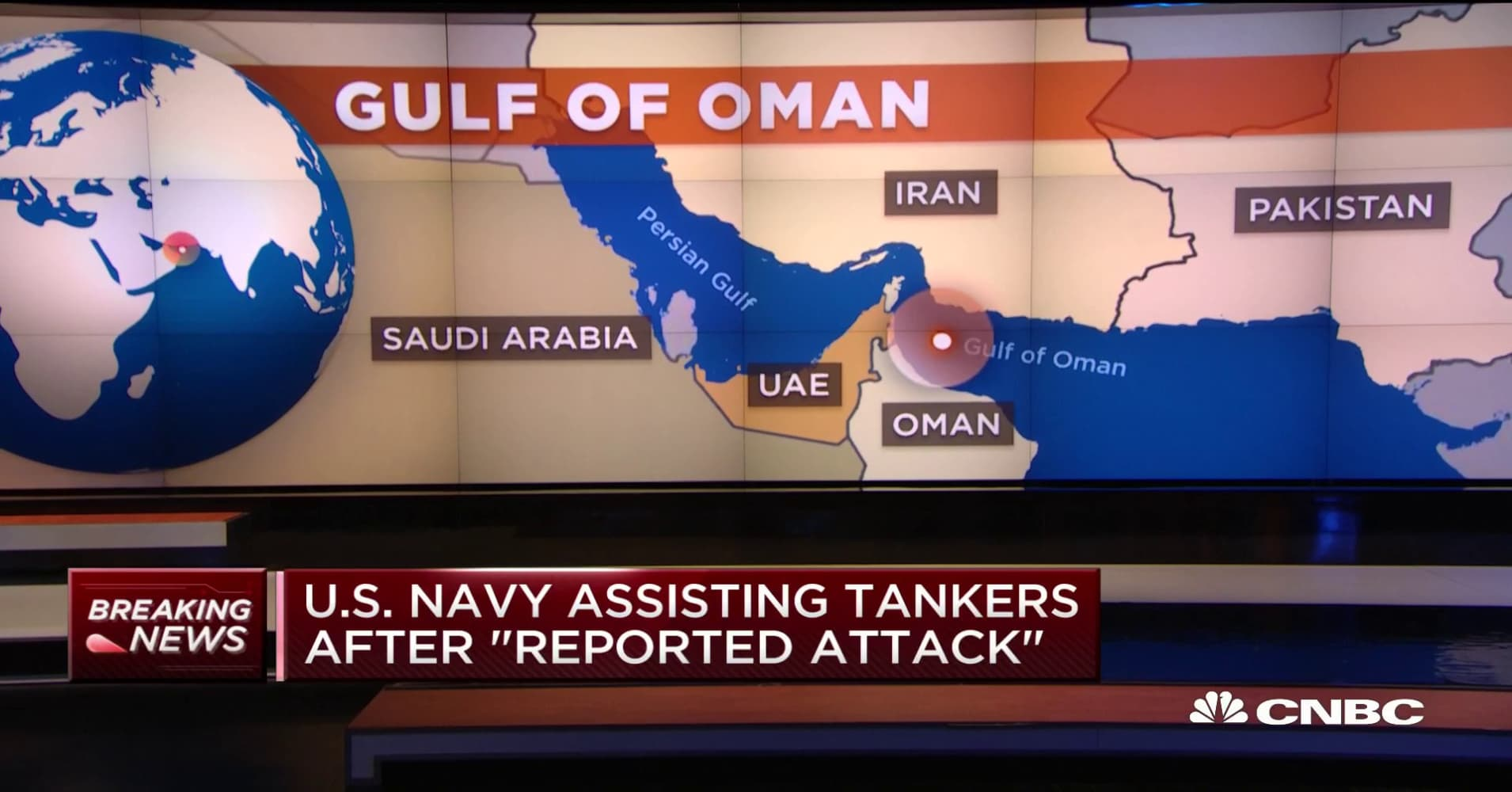 Report: US shipping tankers attacked in Gulf of Oman near Iran