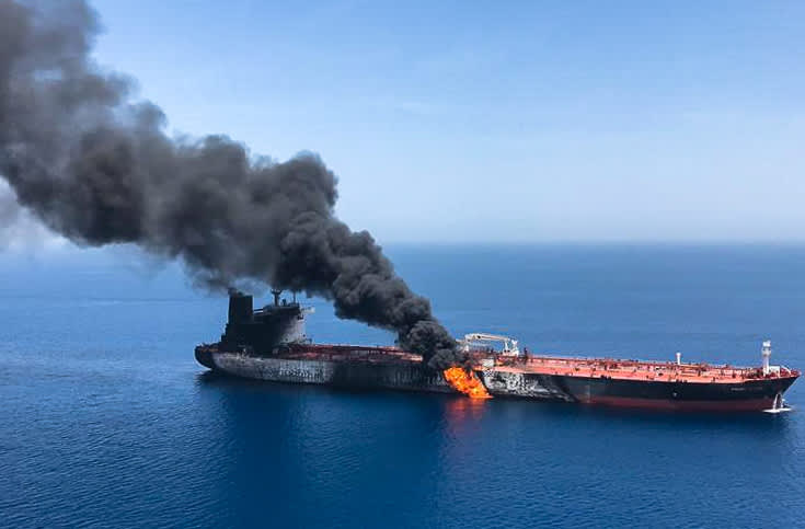 Trump administration blames Iran for oil tanker attacks in Middle East