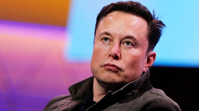 SpaceX owner and Tesla CEO Elon Musk gestures during a conversation at the E3 gaming convention in Los Angeles, June 13, 2019.
