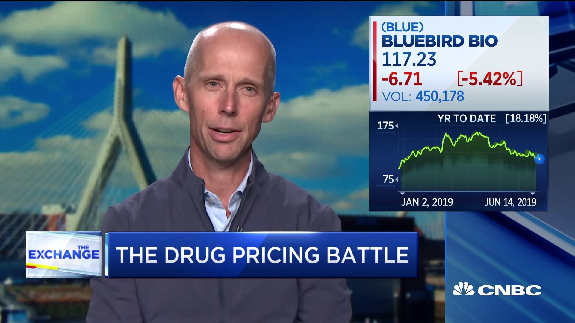 Bluebird Bio CEO defends $1.8 million price for gene therapy — 'It's really thinking about it differently'