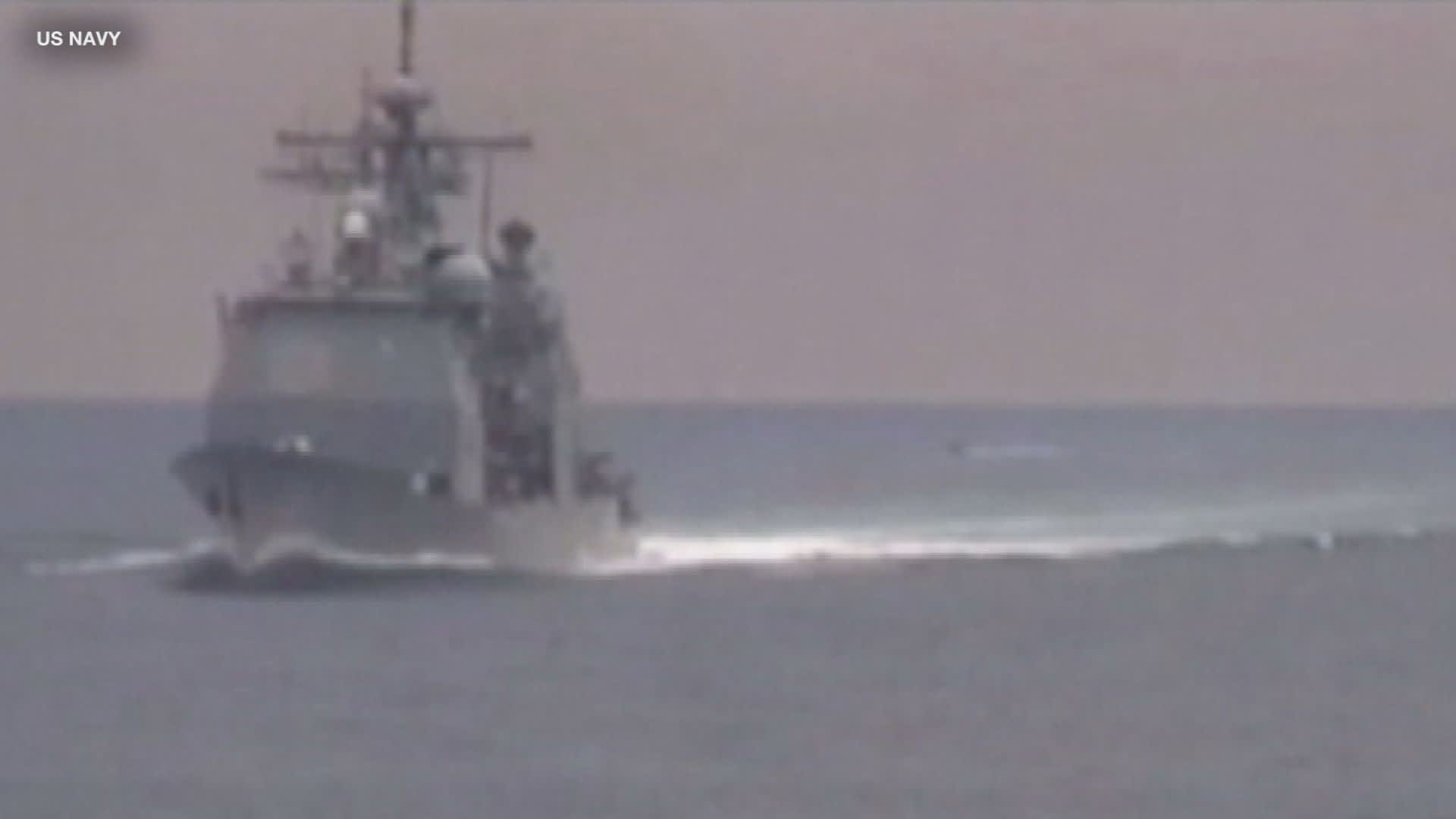 Militarized Iranian fast-boats prevented tug boats from salvaging damaged oil tanker, US officials say