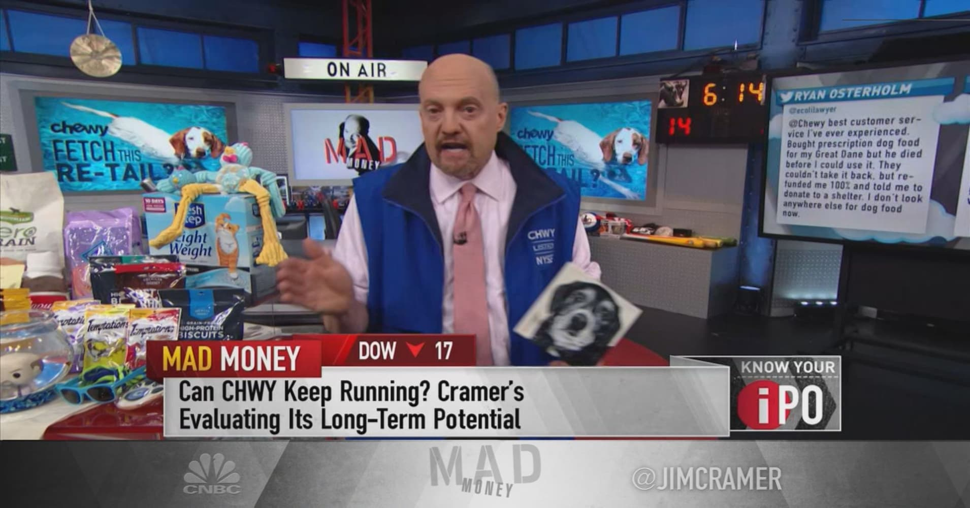 Buy Chewy on a pullback: Jim Cramer