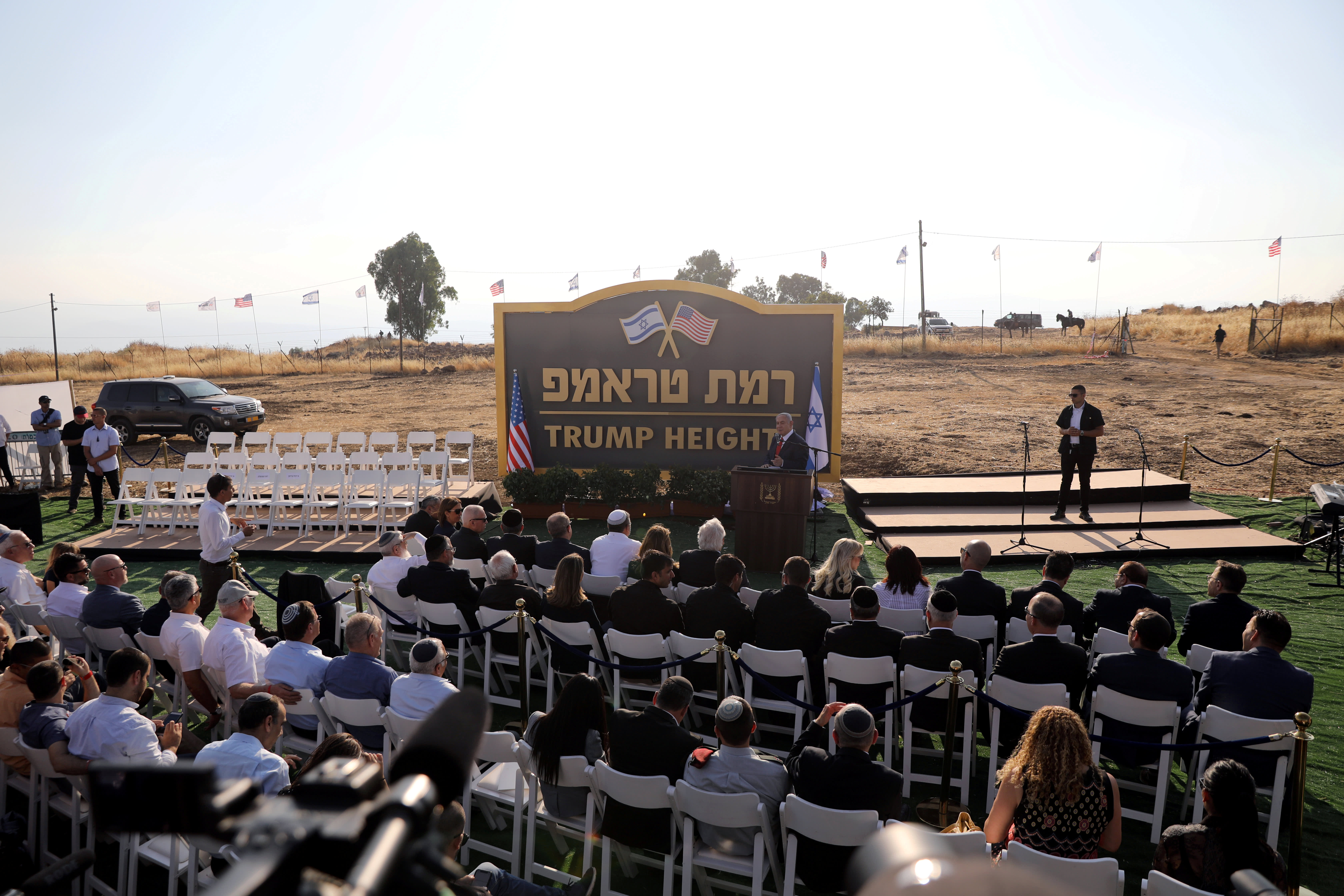 'Trump Heights': Netanyahu dedicates new settlement in Golan Heights to US president