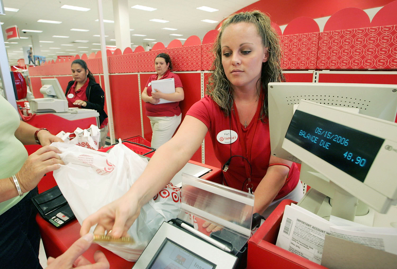 Target's stock drops after weekend register meltdown