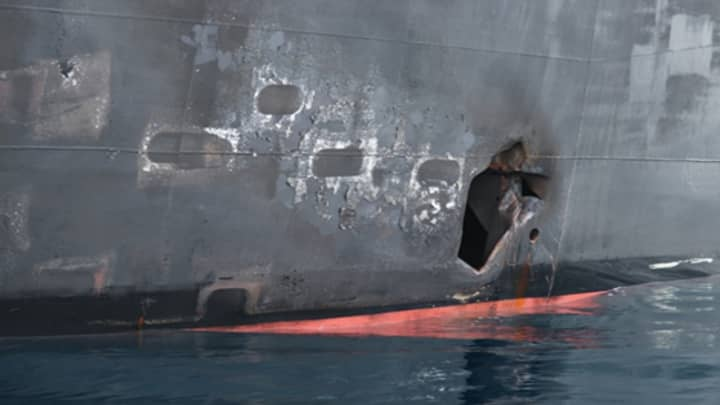 US military releases new images of Japanese oil tanker attack