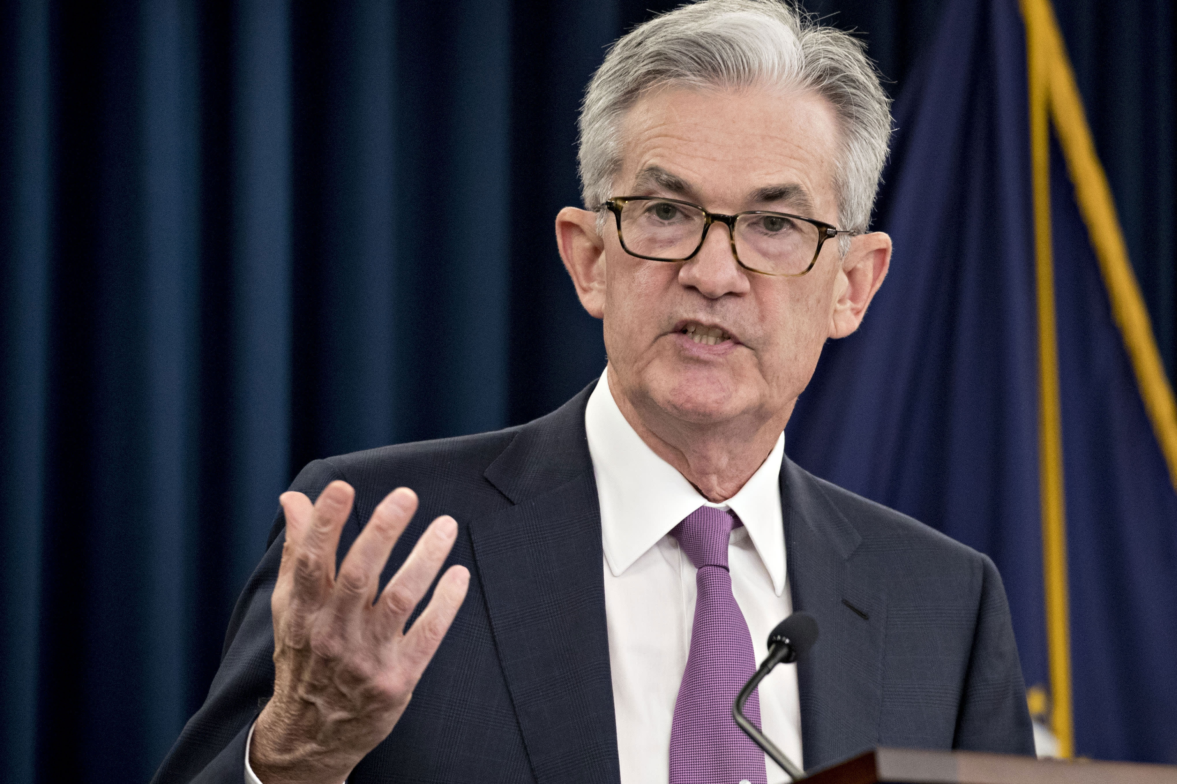 Fed Chair Powell says he would want to see persistent rise in inflation before hiking rates again