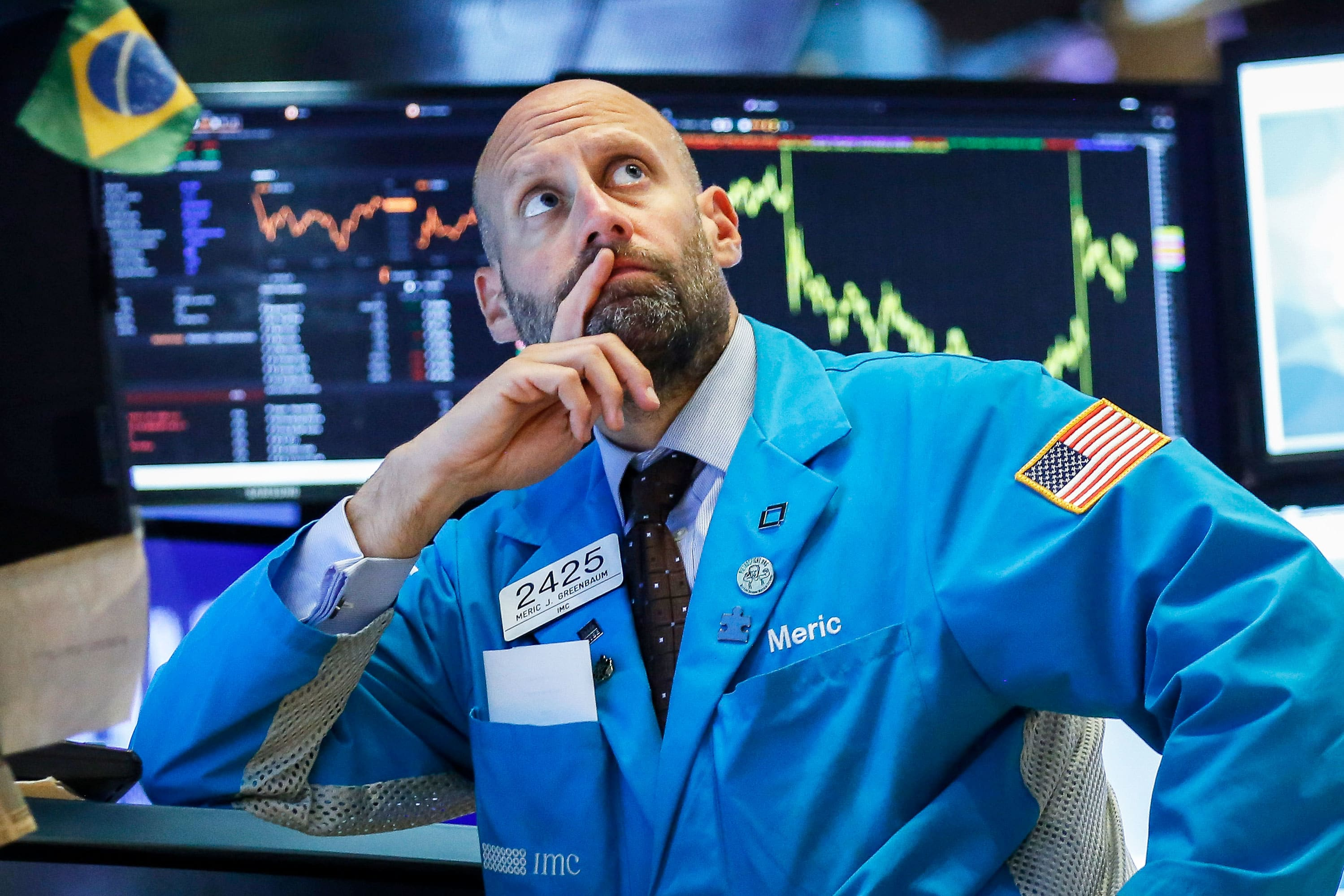 Stocks fall from record highs after strong jobs report dampens hope of a Fed rate cut