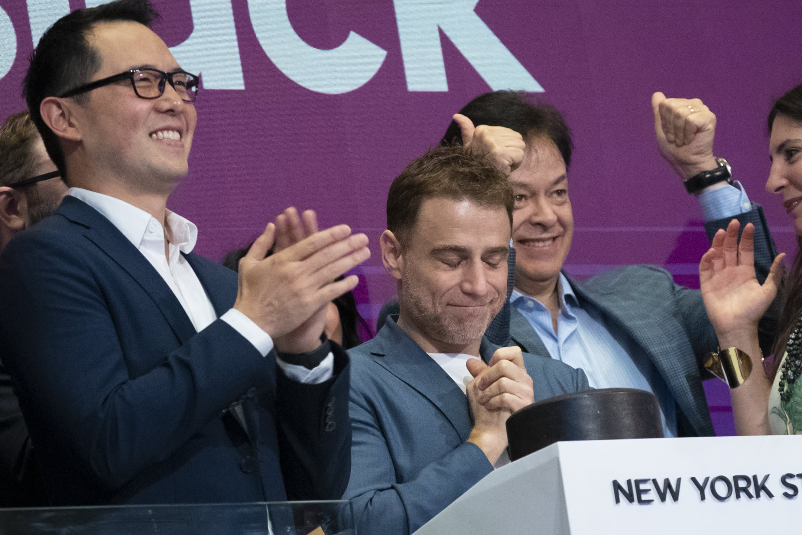 Slack shares surge 60% over reference price in market debut