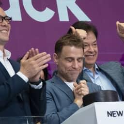 Slack shares surge 48% over reference price in market debut